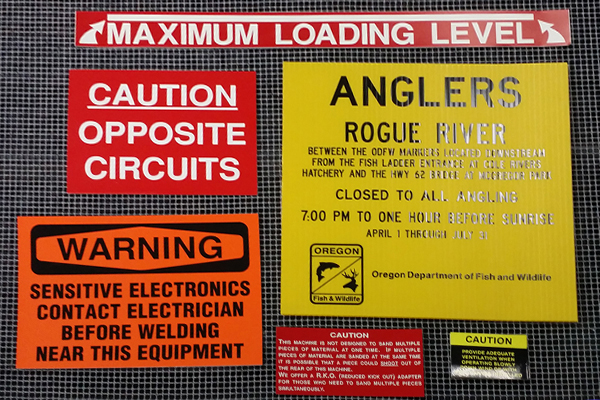 Medford & Grants Pass sign screen printing - street signs, real estate, equipment, campaigns